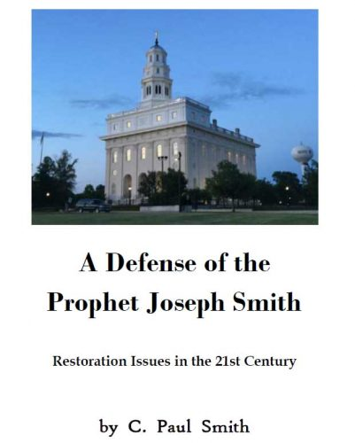 A Defense of the Prophet Joseph Smith Cover