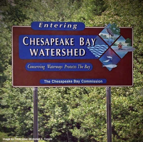 Chesapeake Bay Watershed Sign