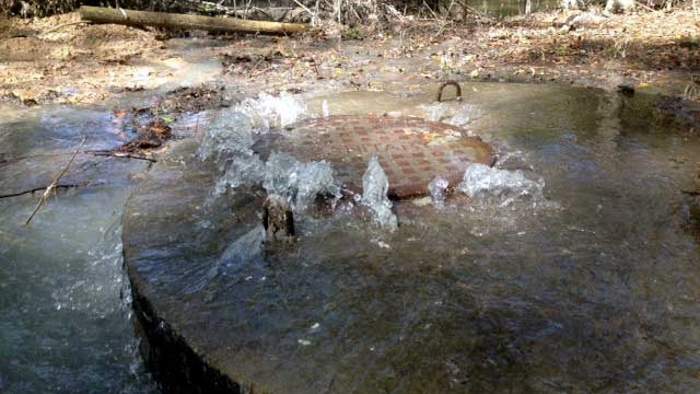 stormwater from manhole
