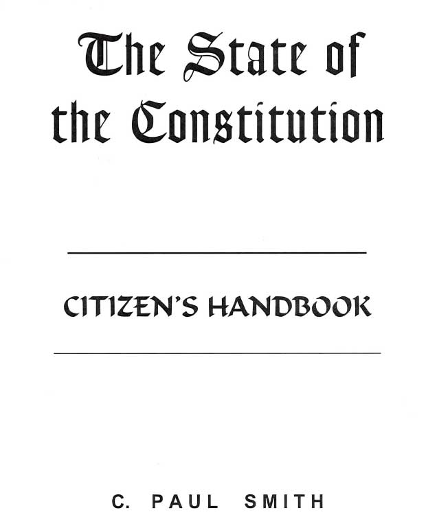 The State of the Constitution Cover